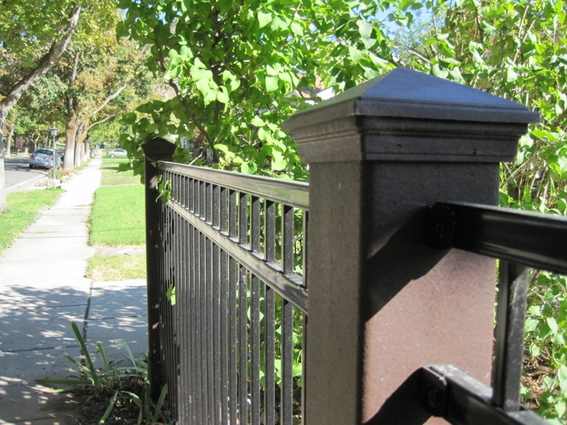 trex seclusions composite privacy fencing ornamental iron fencing - Composite Fencing