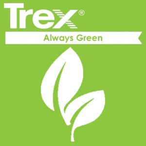 trex composite fence is green