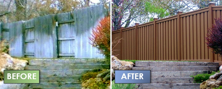 Before And After Trex Fencing The Composite Alternative