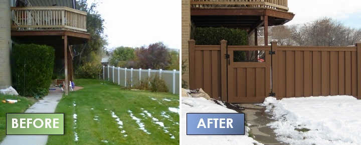 Trex Seclusions Fence - Before & After