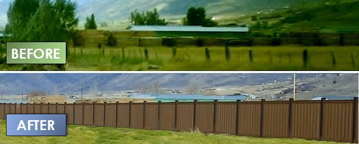 Low Maintenance Fence Before & After