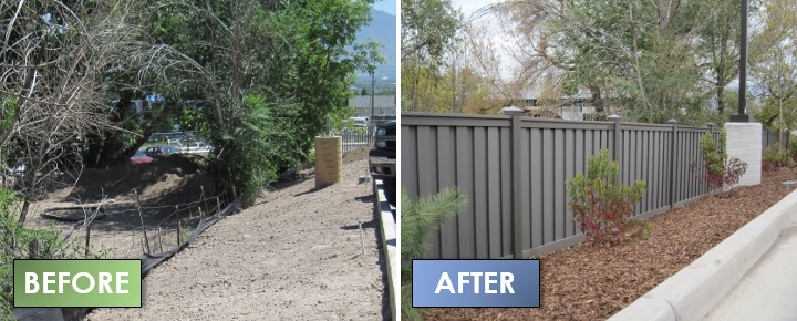 Composite Fence Before & After