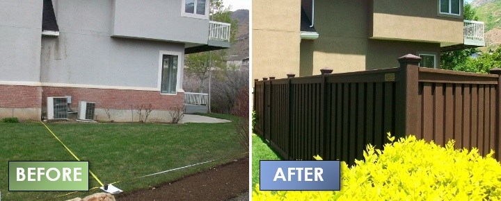 Vinyl Fence Alternative Before & After