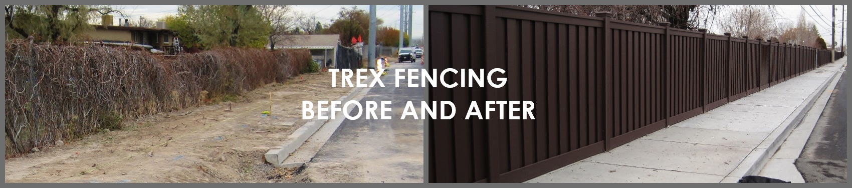 Trex Composite Fencing - Before & After Gallery