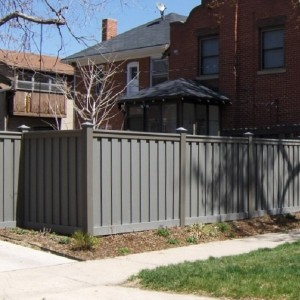 Vinyl Fence Alternative - Winchester Grey