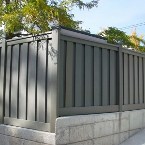 Trex Composite Fence - Winchester Grey