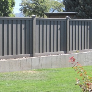 Wood Fence Alternative - Winchester Grey