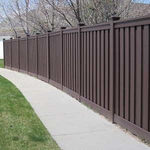 Composite Fence - Woodland Brown