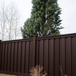 Wood Fence Alternative - Woodland Brown
