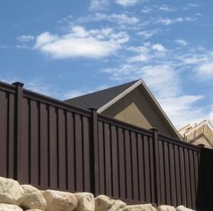 Vinyl Fence Alternative - Woodland Brown