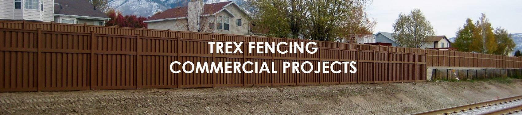 Trex Composite Fence for Commercial and Government Projects