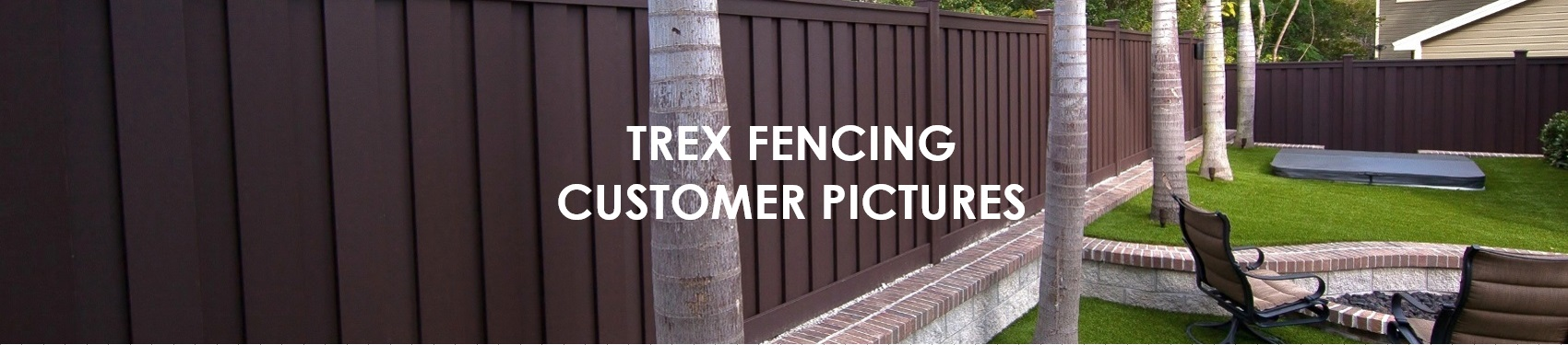 Pictures from Trex Wood Alternative Fence Customer Projects