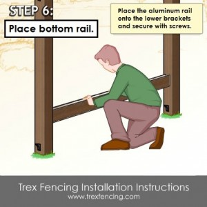 Trex fencing installation step 11a