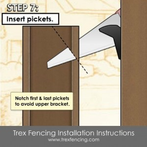 Trex fencing installation step 13a