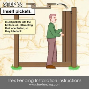 Trex fencing installation step 17a