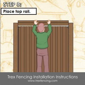 Trex fencing installation step 21a