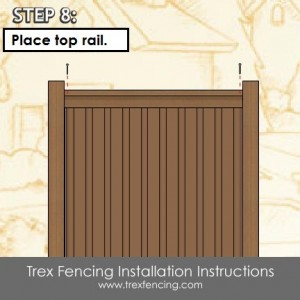Trex fencing installation step 22a
