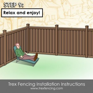 Trex fencing installation step 24a