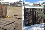 Trex Fencing Project, Before and After
