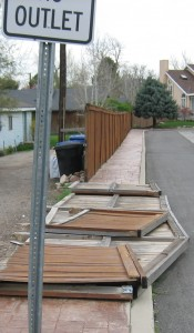 Fence Damage, Homeowner Association