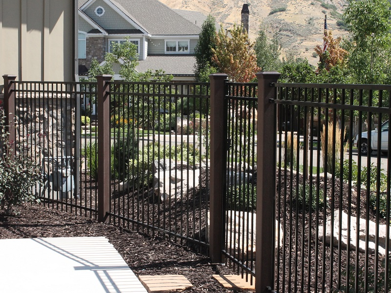 Using trex posts with ornamental fencing