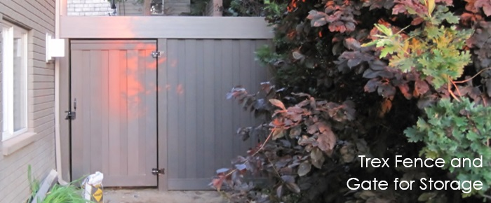 Trex Fence and Gate for Storage Enclosure
