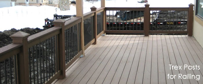 Trex Fence Posts used fro Deck Railing