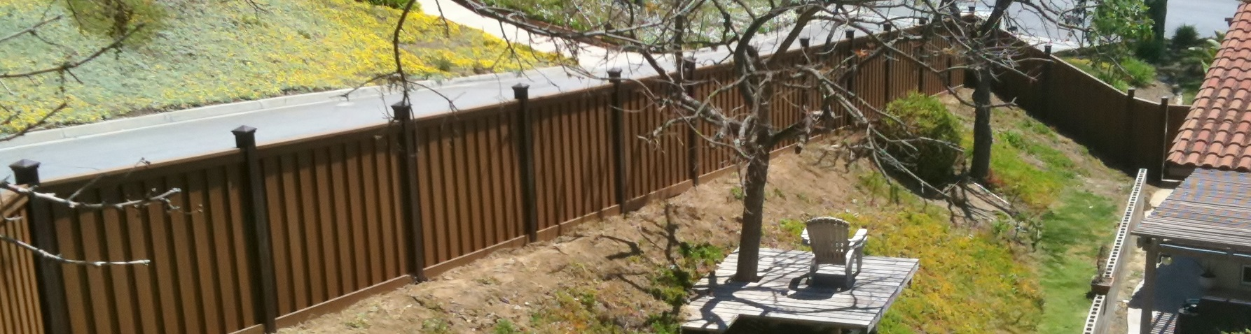 Trex Fencing constructed in Chino Hills California