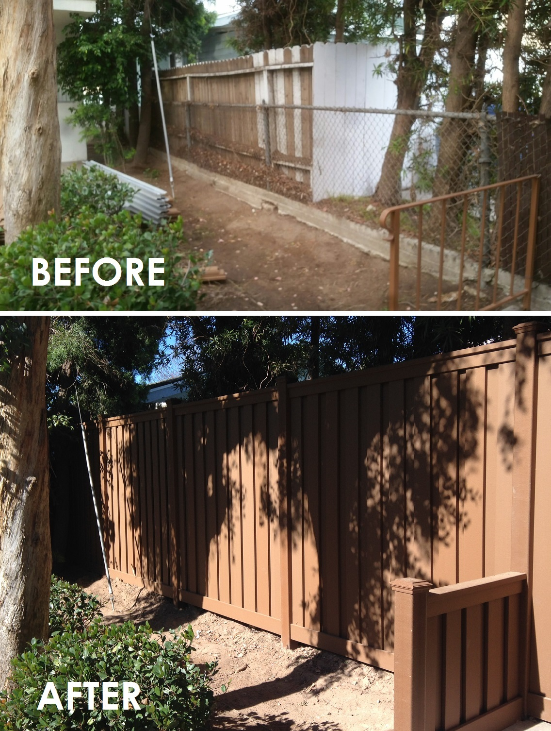 New Before Amp After Pictures Trex Fencing The Composite