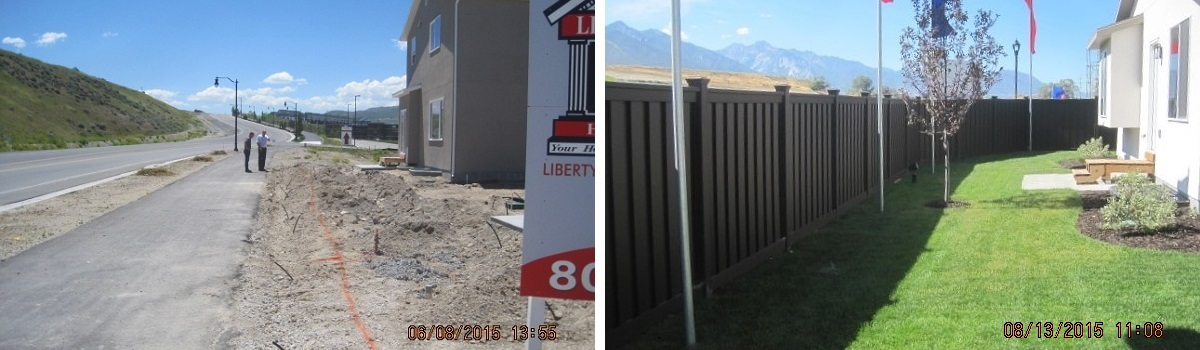 Trex Fencing installed at a model home in a new development