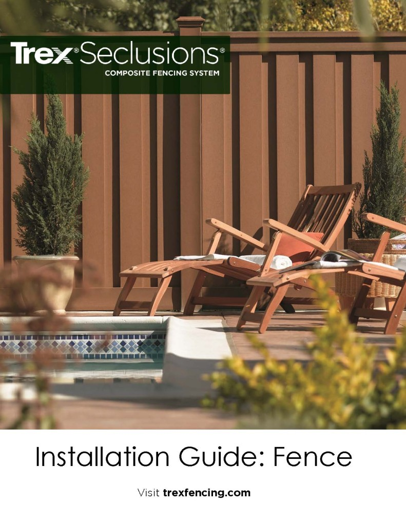 Installation trex fencing the composite alternative to for Fence installation tips