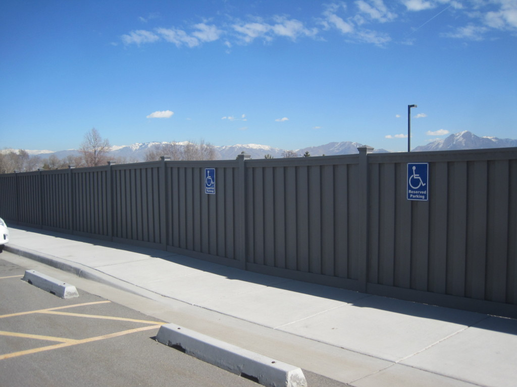 Winchester Grey Trex perimeter fencing for Nelson Labs, Utah
