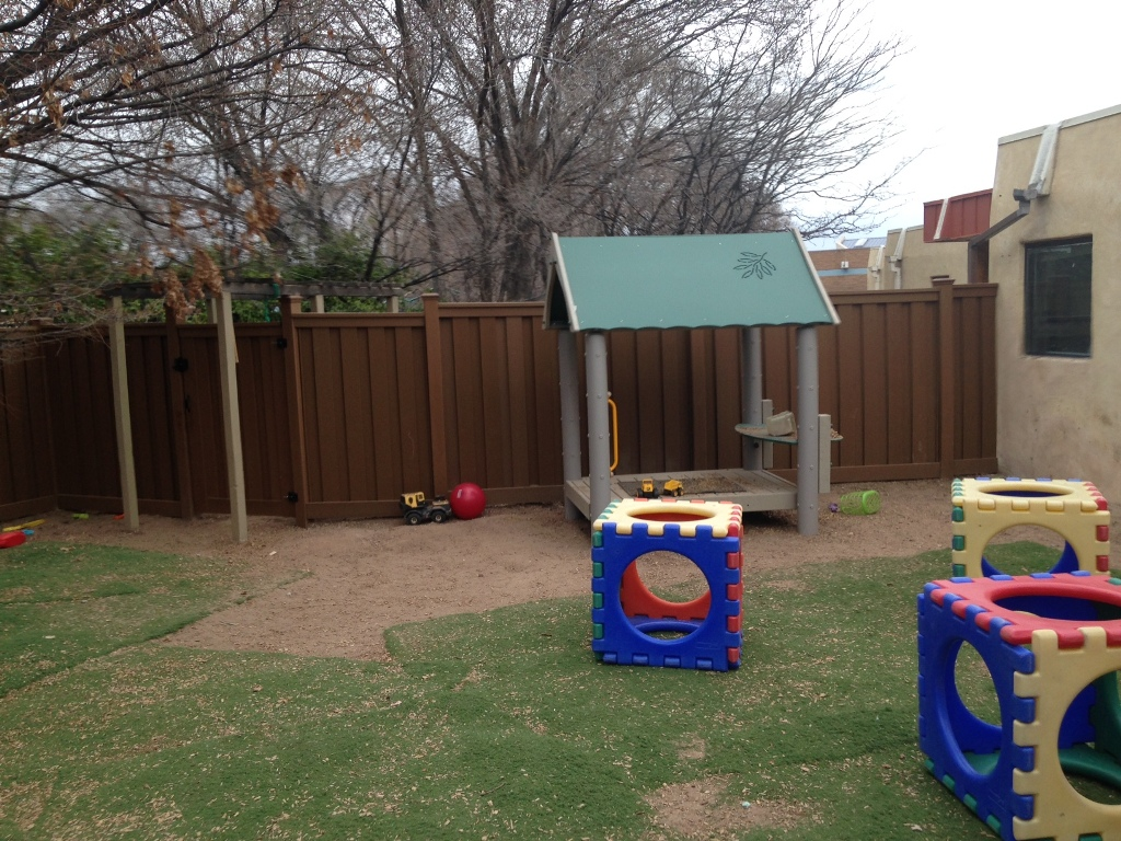 Privacy fencing for pre-school, Santa Fe New Mexico