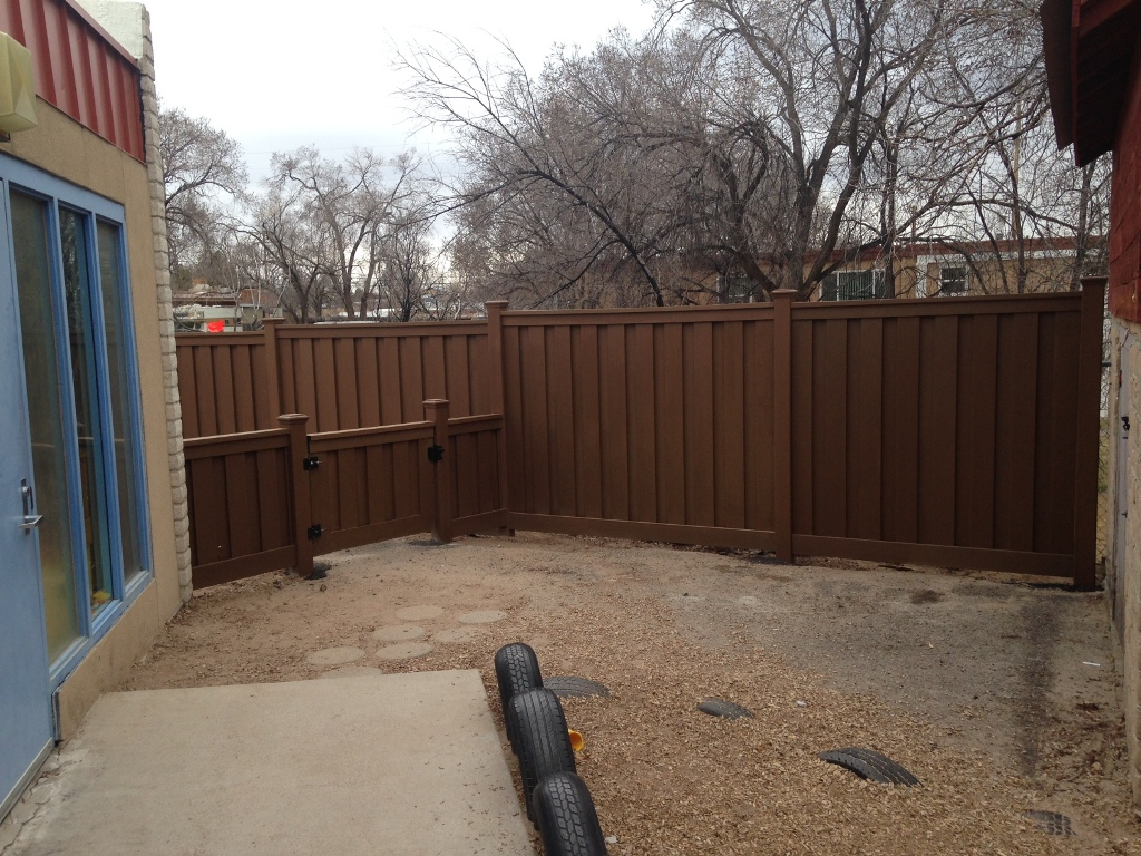 Privacy fencing for pre-school