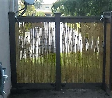 Bamboo used as pickets for a fence