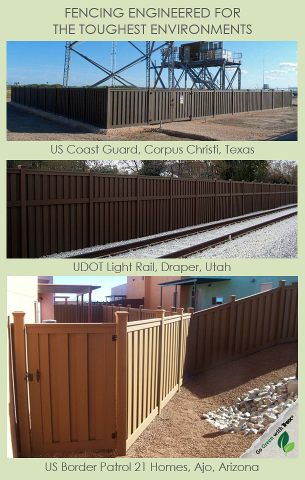 Trex Fencing for Commercial and Government Applications