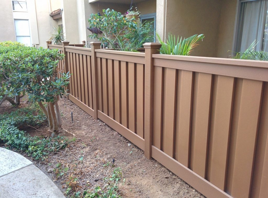 Patio fencing at Plaza Condominiums, San Diego