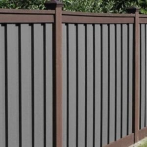 Trex Woodland Brown and Grey Fence