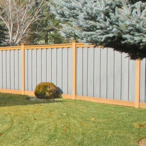 Trex Grey and Saddle Fence