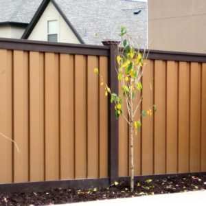 Brown and Tan Trex Fence