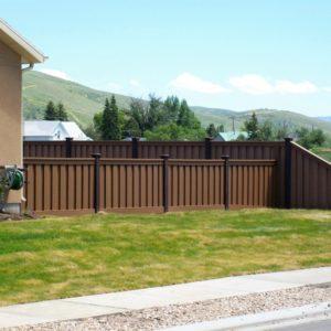 Trex Perimeter Fencing in Brown and Tan