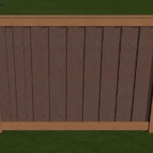 3-D Mockup of Trex Fence with Brown and Saddle
