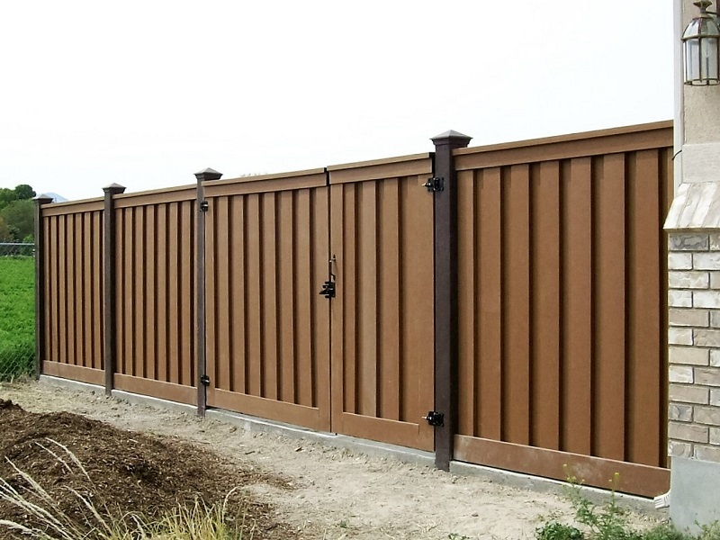 Dark brown vinyl fence pictures to pin on pinterest