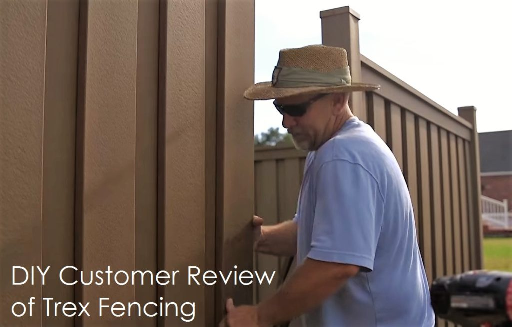 Do-it-Yourselfer building a Trex privacy fence