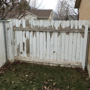 Wood fencing needs regular maintenance
