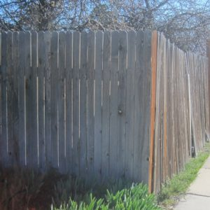Wood fencing will rot and shrink