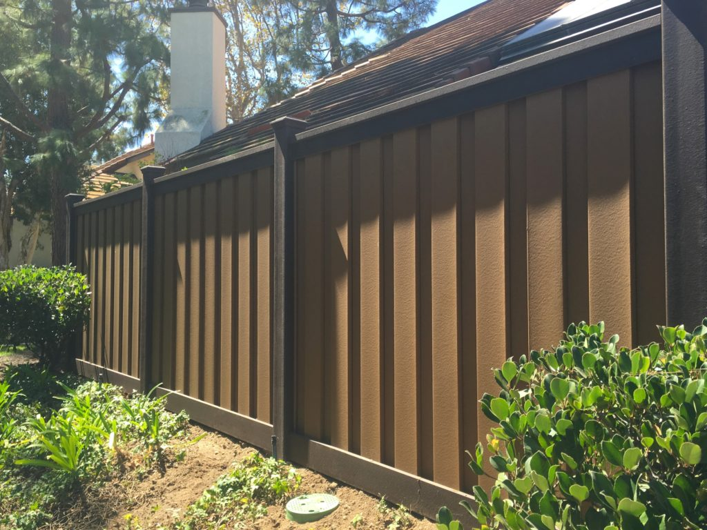 Patio enclosure fencing for homeowner association