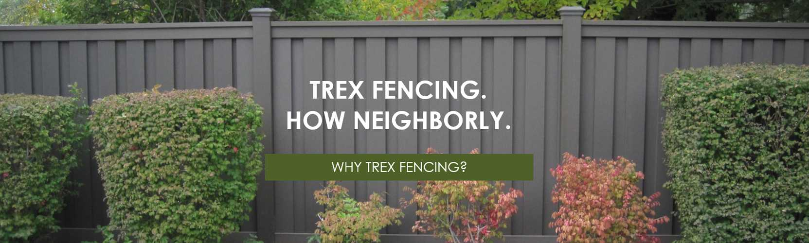 Trex Fencing, the Composite Alternative to Wood & Vinyl - Trex ... on