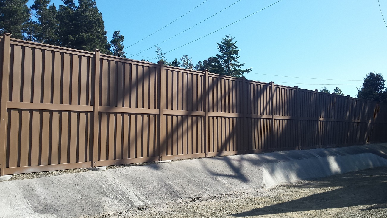 Trex Fencing at Pacific Gas and Electric Substation in Mendocino, California