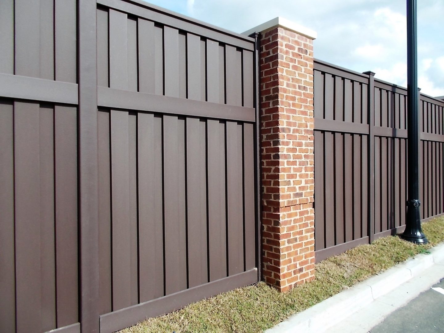 Dark Brown Trex Fencing built for Pooler City Hall, Georgia
